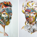 Comic Book Face Portraits By Sandra Chevrier