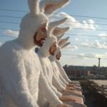 Sculptures Of Bunny Men By Alex Podesta