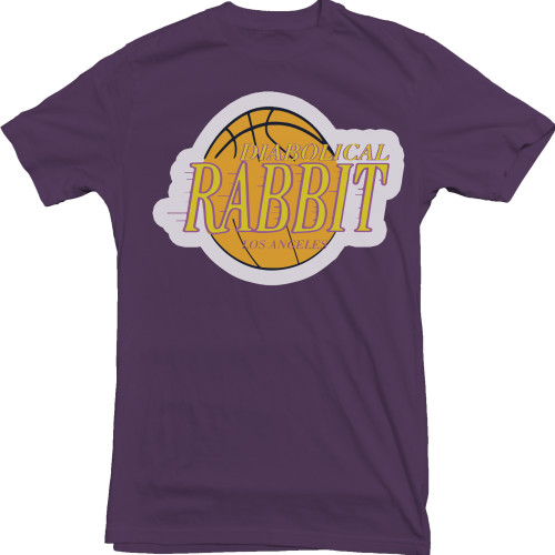 Diabolical Rabbit Los Angeles tee Dark Purple