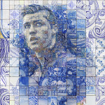 Christiano Ronaldo Mosiac Art By Charis Tsevis