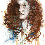 Ink And Tea Portraits By Carne Griffiths