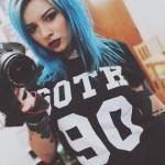 Katherine Suicide AKA Rebecca Crow X Team Goth Tee