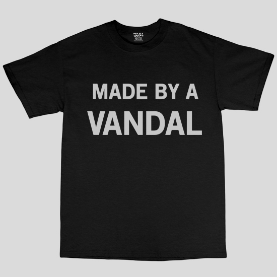 Made By A Vandal Tee By Diabolical Rabbit