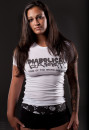 Model Amanda In Diabolical Rabbit® HOTWAQ Tee