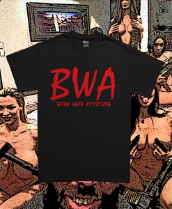 BWA Black Tee Red Font Diabolical Rabbit