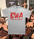 BWA Heather Grey Tee Red Font Diabolical Rabbit®