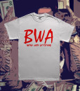 BWA White Tee Red Font Diabolical Rabbit®