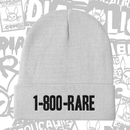 1-800-Rare Diabolical Rabbit White Beanie