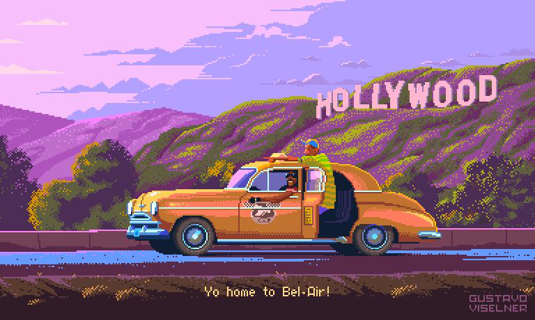 Pixel Art TV By Gustavo Viselner X Diabolical Rabbit®