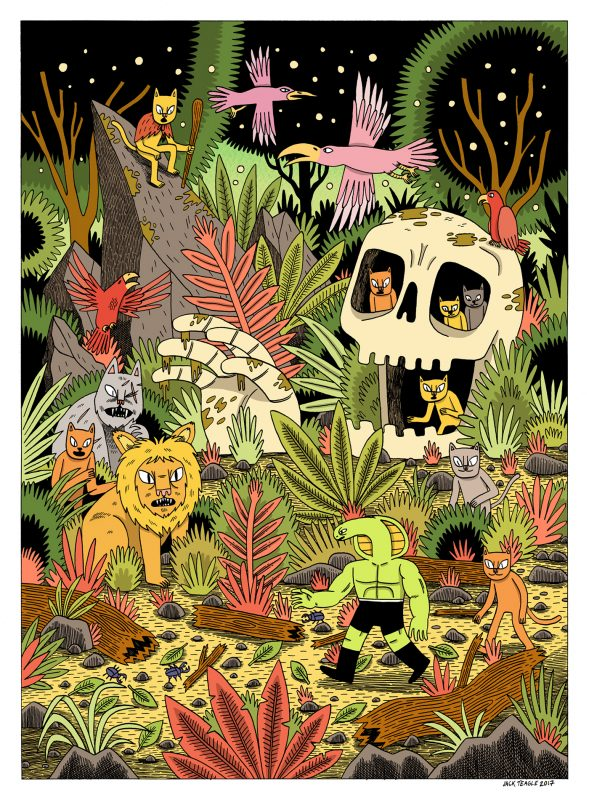 Wacky Illustrations By Jack Teagle Featured On Diabolical Rabbit3